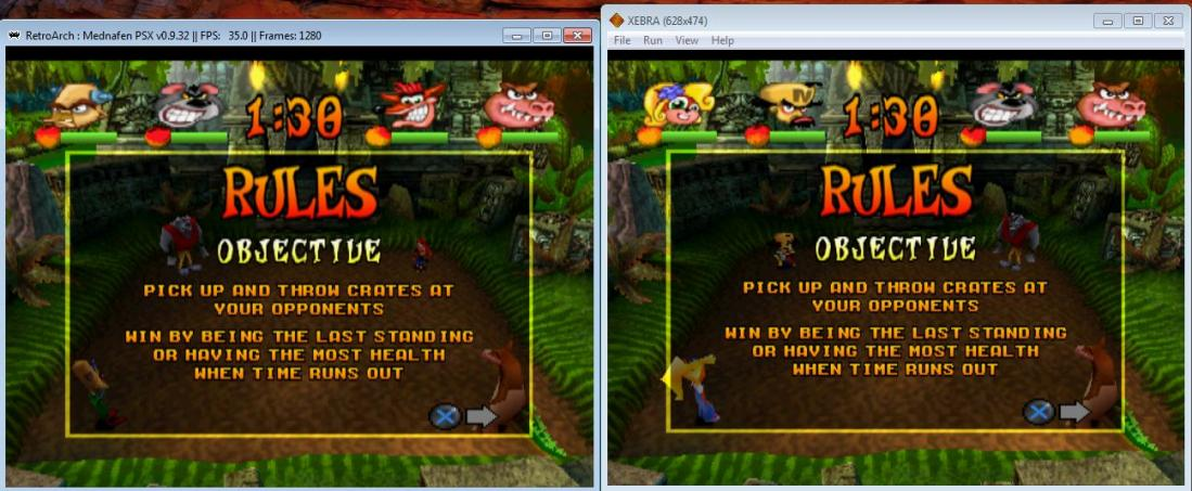 Comparison of PSX emulators and their accuracy