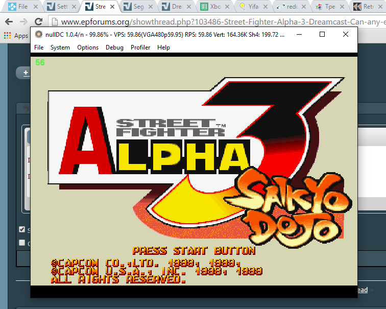Street Fighter Alpha 3 Dreamcast: Can any emulator play it?